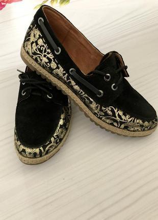 Туфли лоферы натуральный замш размер 36-36,5