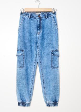 Крутое джинсы джогеры, карго, размер м, l
