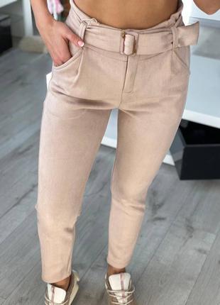 Женские штаны, замшевые штаны, нарядные штаны