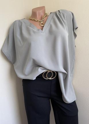 Элегантная блуза casual  v-образный вырез