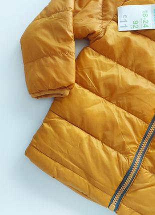 Куртка демисезонная горчичного цвета primark2 фото