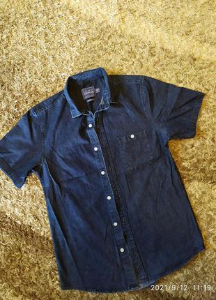 Джинсовая рубашка джинс