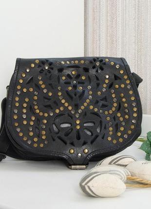 Кожаная сумка, кроссбоди, натуральная кожа