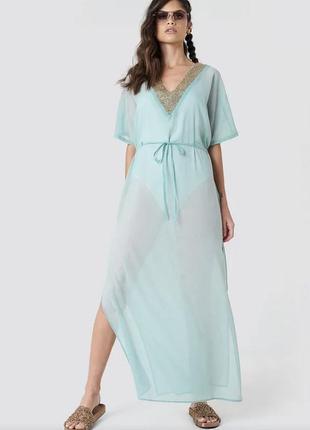 Обалденное платье накидка на боди/купальник