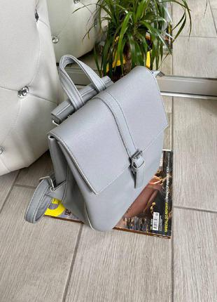 Новинка! стильный рюкзак-сумка-планшет серого цвета