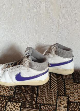 Шкірані брендові високі кросівки