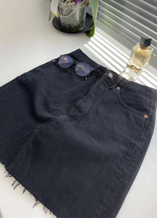 Идеальная джинсовая юбка трапеция levi's