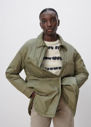 Zara куртка водонепроницаемая хаки
