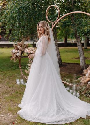 Свадебное платье а-силуэт lanesta в белом цвете