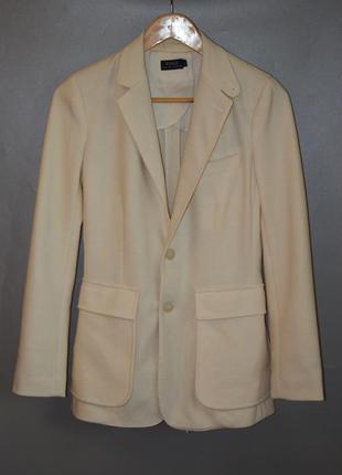 Polo ralph lauren шерстяной удлиненный пиджак кремового цвета loro piana