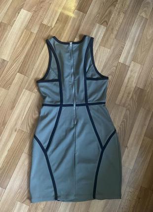 Платье оливковое ,трикотаж ,стильное