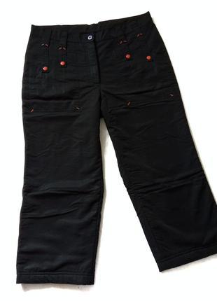 Чёрные тёплые бриджи, штаны, шорты, брюки