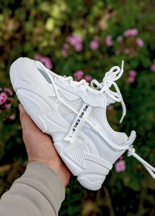 Жіночі осінні білі кросівки без бренду шкіра 36-41 кроссовки женские осень белые
