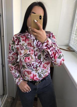 Шикарная хлопковая блузка блуза рубашка хлопок gap