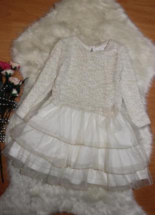 Очень красивое платье palomino на 3-4г