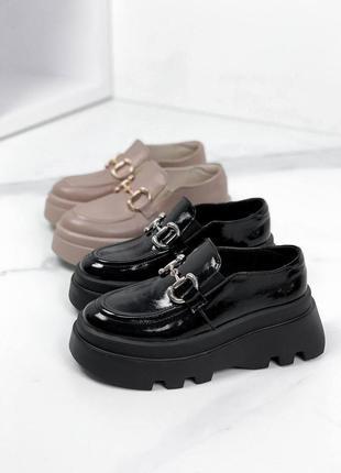Нереально крутые кожаные туфли на платформе
