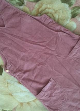 Вельветовый сарафан платье