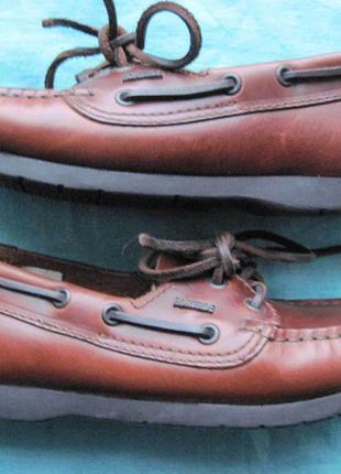Portside (36) кожаные топсайдеры женские