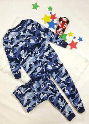 Флисовая комбез-пижама на 8-9 лет, состояние идеальное