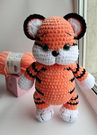 Тигр амигуруми тигрёнок вязаный