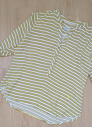 Вискозная блуза-рубашка в полоску