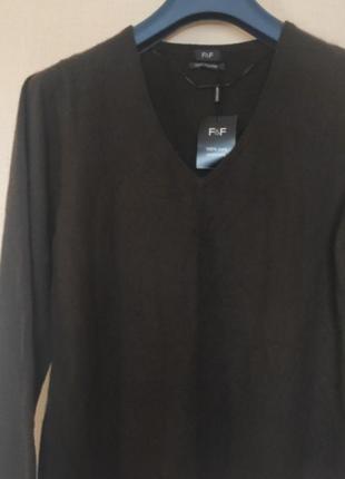 Женский свитер фирмы f&f, размер 16/18. 💯%кашемир.