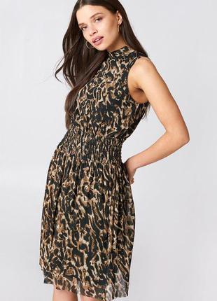 Легкое платье в леопардовый принт