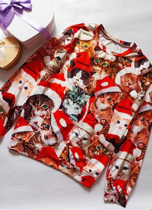 Лёгкий свитер джемпер рождественский новогодний