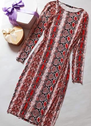 Легкое трикотажное платье миди