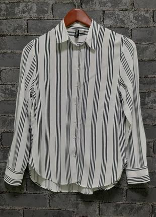 Красивая рубашка сорочка  в полоску свободного кроя