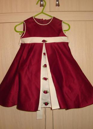 Нарядное платье на 3-6 мес (реально до года)