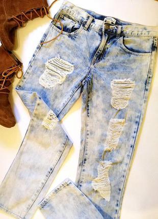 Новые стильные мом женские рваные джинсы плотные новые