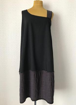 Стильное ассиметричное платье - сарафан от lmp, размер м (l-3xl)