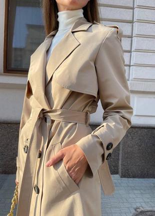 Пальто тренч идеальное классическое