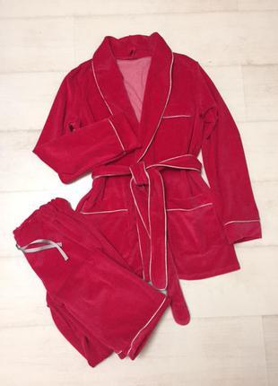 Велюровый комплект-пижама для дома