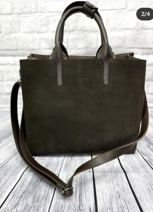 Сумка сумочка шикарная шикарна эко кожаная еко шкіряна квадратная модная замшевая из натуральной замши замшева з натуральної замші