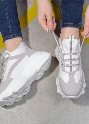 Жіночі білі кросівкі, якісна новинка, осінь