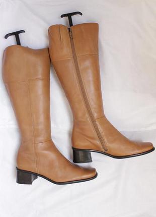 Шкіряні чоботи minozzi з квадратним носком сапоги
