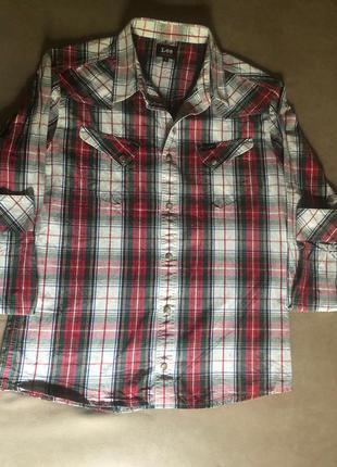 Джинсовая рубашка популярного бренда - lee