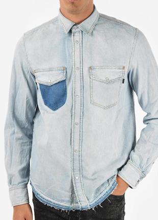 Рубашка джинсовая итальянского бренда diesel d-rooke camicia европа италия оригинал