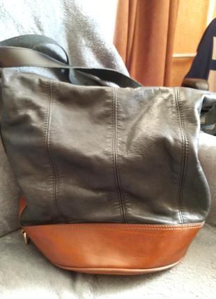 Классная итальянская сумка кожа