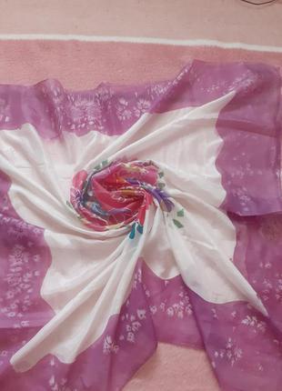 Шелковый платок,100% шелк