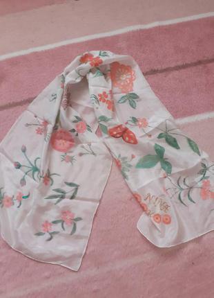 Шелковый шарф,100% шелк