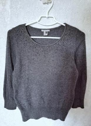 Кофта женская свитер ангора h&m расшит бисером