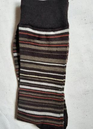 Коричневые в полоску высокие носки  германия размер 27