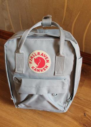 Компактный рюкзак рефлектив fjallraven kanken super grey