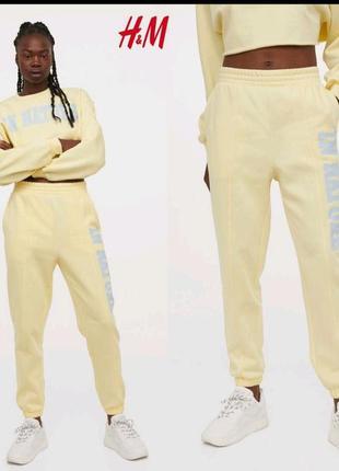 Спортивные штаны джогеры h&m
