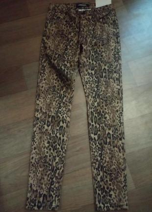 Джинсы premium collection леопардовый принт r.display denim размер евро 36