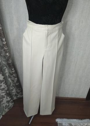Женские теплые белые брюки штаны шерсть