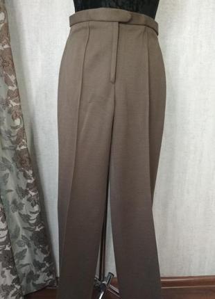 Женские брюки штаны теплые тауп цвет шерсть